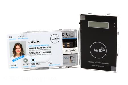 Certgate AirID wearable Bluetooth card reader